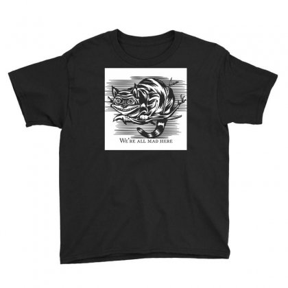 Cheshire Cat Madness Youth Tee Designed By Rahmatika
