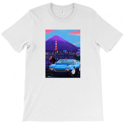 Outrun Retrowave Merch T-shirt Designed By Willo