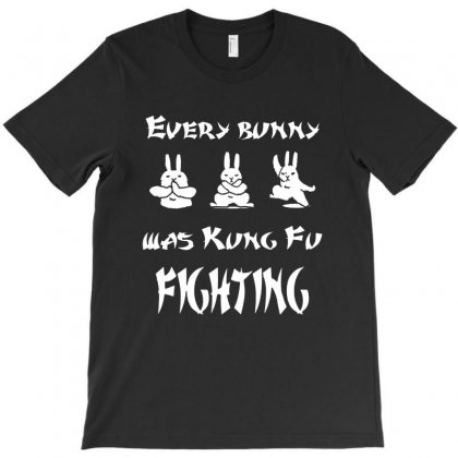 Funny Easter Every Bunny Kungfu Fighting For Dark T-shirt Designed By Cahyorin