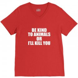 be kind to animals V-Neck Tee | Artistshot