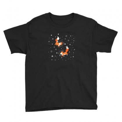 Foxes And Galaxy Youth Tee Designed By Hasret