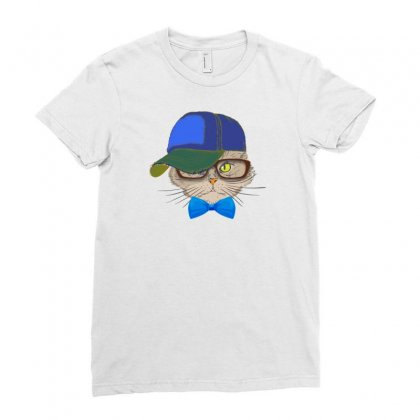 Cat Ladies Fitted T-shirt Designed By Neset