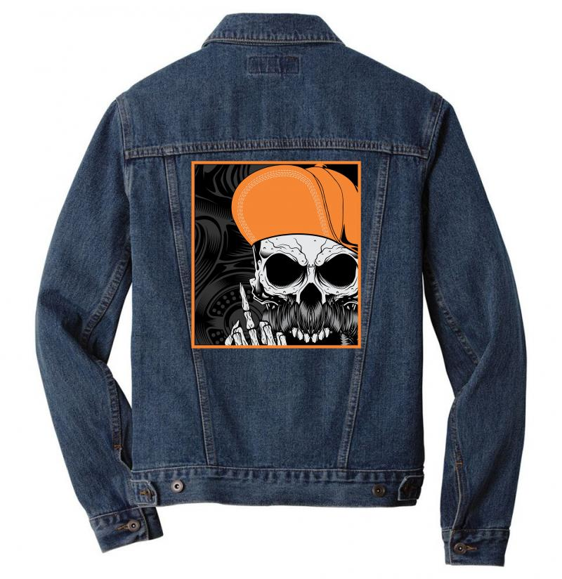 Skull Men Denim Jacket | Artistshot
