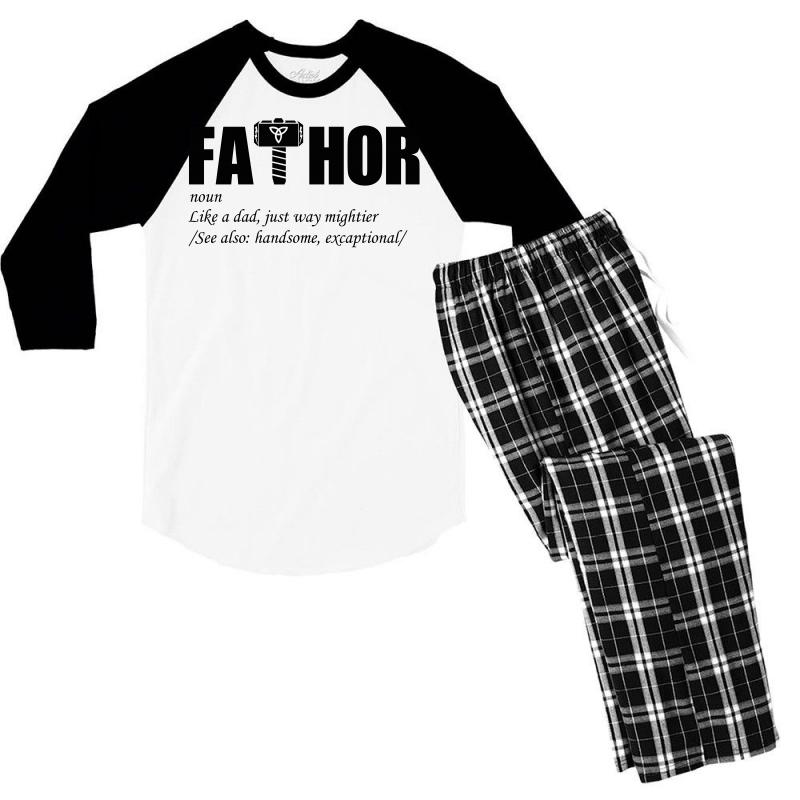 Fathor Art Men's 3/4 Sleeve Pajama Set | Artistshot