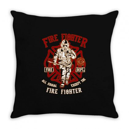 Firefighter T Shirt Throw Pillow Designed By Shadowart