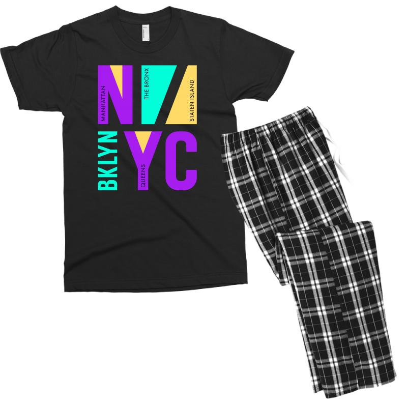 Nyc Usa Bronx Men's T-shirt Pajama Set | Artistshot