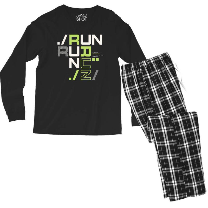Sports Run Men's Long Sleeve Pajama Set | Artistshot