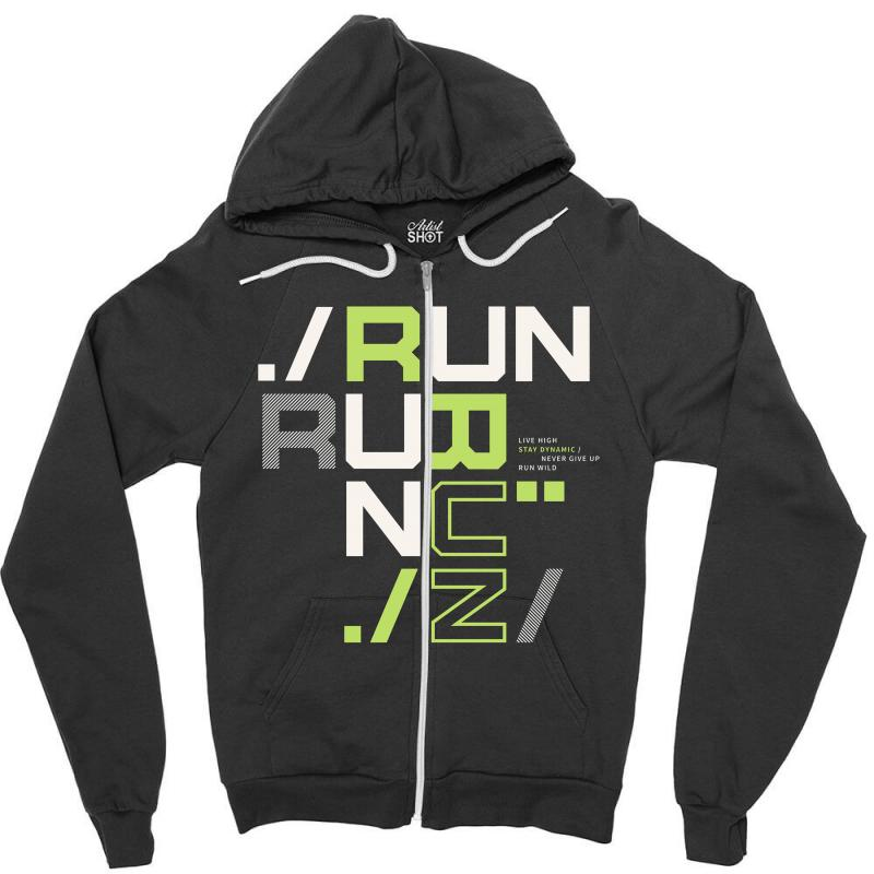 Sports Run Zipper Hoodie | Artistshot