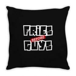 fries before guys Throw Pillow | Artistshot