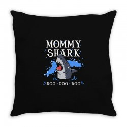 mommy shark Throw Pillow | Artistshot