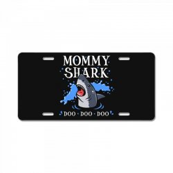 mommy shark License Plate | Artistshot