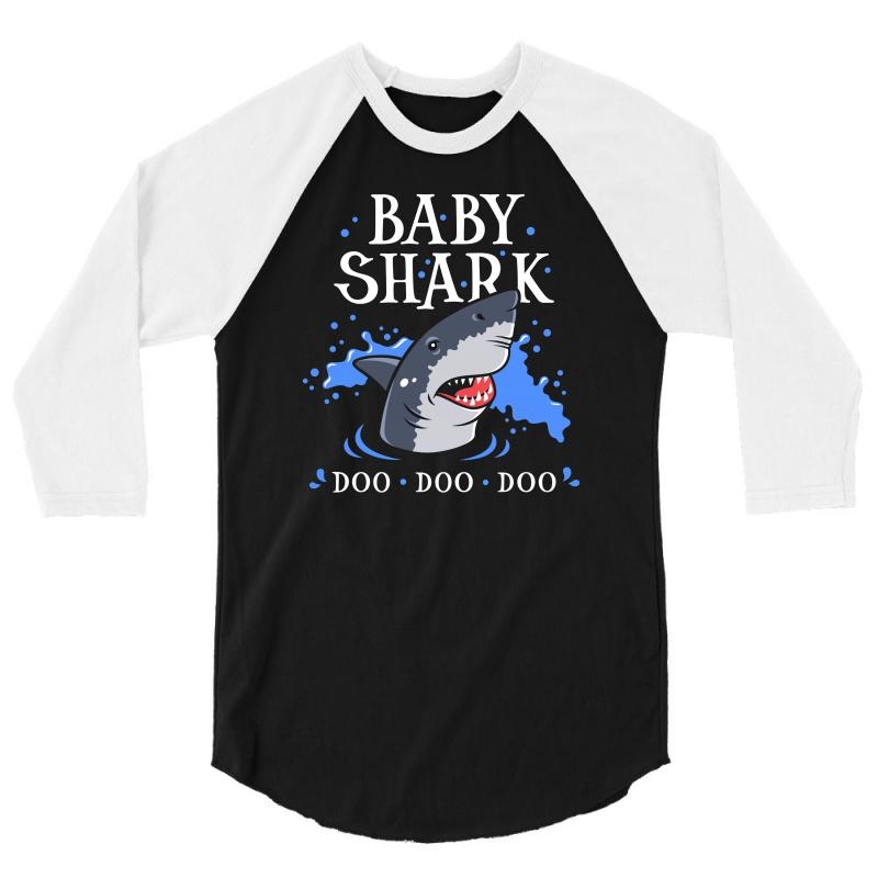 Baby Shark 3/4 Sleeve Shirt | Artistshot