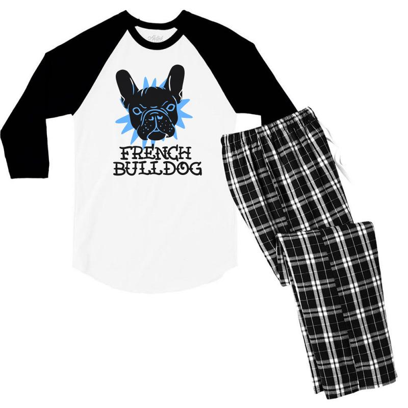 French Bulldog Men's 3/4 Sleeve Pajama Set | Artistshot