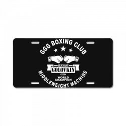 ggg boxing club License Plate | Artistshot