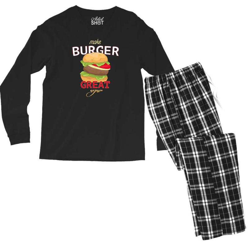 Make Burger Great Men's Long Sleeve Pajama Set | Artistshot