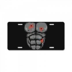 gorilla halloween License Plate | Artistshot