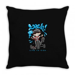 funny biker Throw Pillow | Artistshot