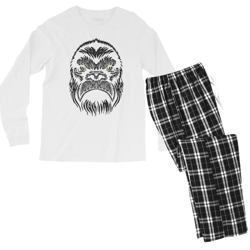 Gorilla T Shirt Men's Long Sleeve Pajama Set | Artistshot