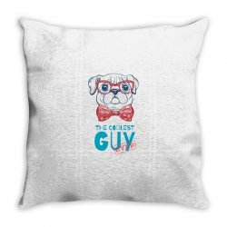 the coolest dog Throw Pillow | Artistshot