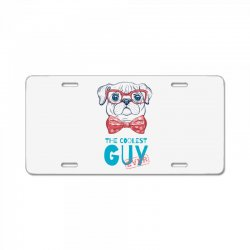 the coolest dog License Plate | Artistshot
