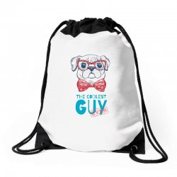 the coolest dog Drawstring Bags | Artistshot