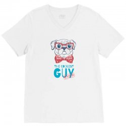 the coolest dog V-Neck Tee | Artistshot