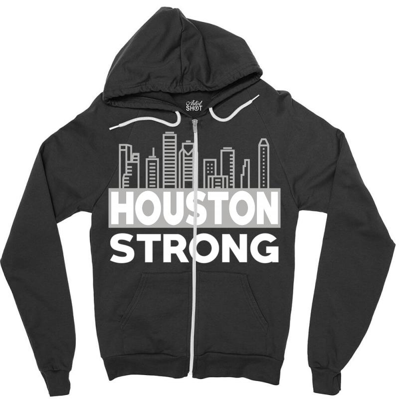 Houston Strong City Zipper Hoodie | Artistshot