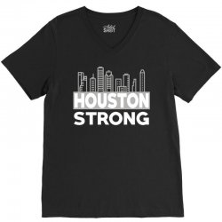 houston strong city V-Neck Tee | Artistshot