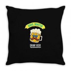 drink funny now Throw Pillow | Artistshot
