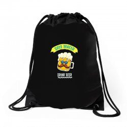 drink funny now Drawstring Bags | Artistshot