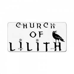 church of lilith merch License Plate | Artistshot