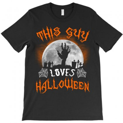 This Guy Loves Halloween T-shirt Designed By Twinklered.com
