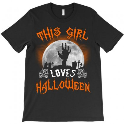This Girl Loves Halloween T-shirt Designed By Twinklered.com