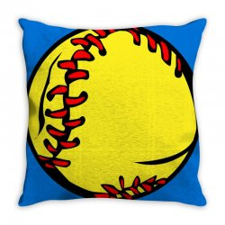 people's republic of burlington softball Throw Pillow | Artistshot