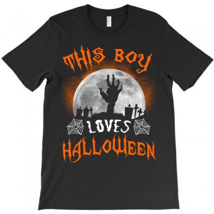 This Boy Loves Halloween T-shirt Designed By Twinklered.com