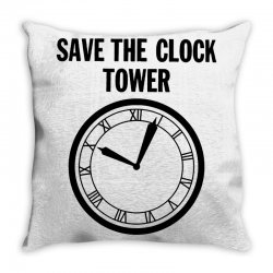 save the clock tower merch Throw Pillow | Artistshot
