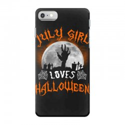 this july girl loves halloween iPhone 7 Case | Artistshot