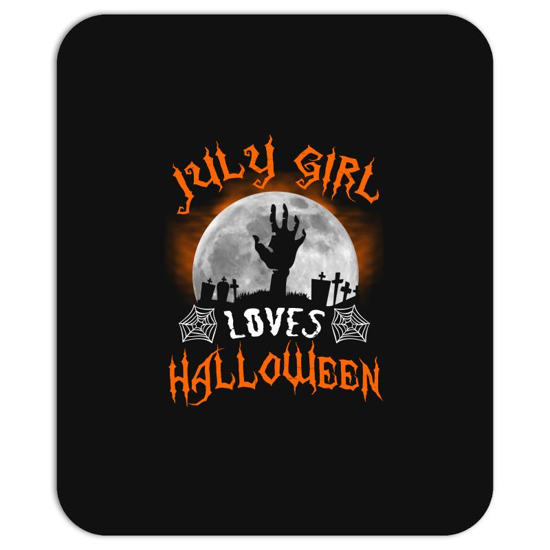This July Girl Loves Halloween Mousepad | Artistshot