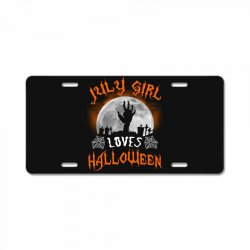 this july girl loves halloween License Plate | Artistshot