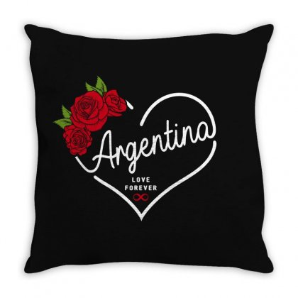 Argentina Love Forever Throw Pillow Designed By Honeysuckle