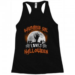 this sagittarius girl loves halloween Racerback Tank | Artistshot