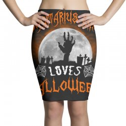 this sagittarius girl loves halloween Pencil Skirts | Artistshot