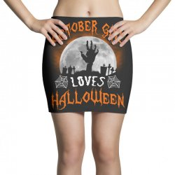 this october girl loves halloween Mini Skirts | Artistshot
