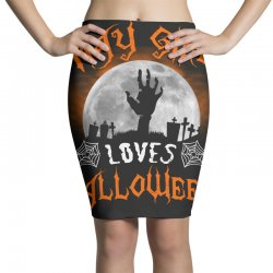 this may girl loves halloween Pencil Skirts | Artistshot