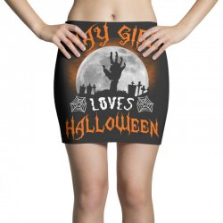 this may girl loves halloween Mini Skirts | Artistshot