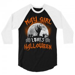 this may girl loves halloween 3/4 Sleeve Shirt | Artistshot