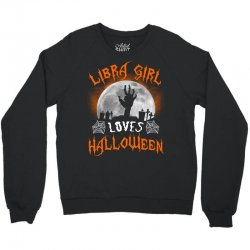 this libra girl loves halloween Crewneck Sweatshirt | Artistshot