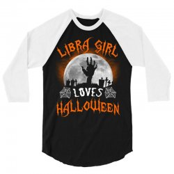 this libra girl loves halloween 3/4 Sleeve Shirt | Artistshot