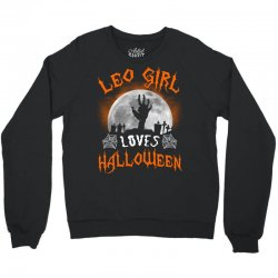 this leo girl loves halloween Crewneck Sweatshirt | Artistshot