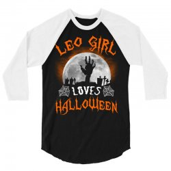 this leo girl loves halloween 3/4 Sleeve Shirt | Artistshot